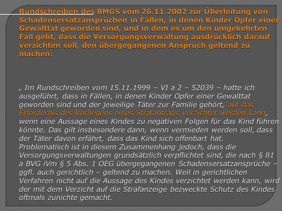 Rundschreiben des BMGS vom 26. 11