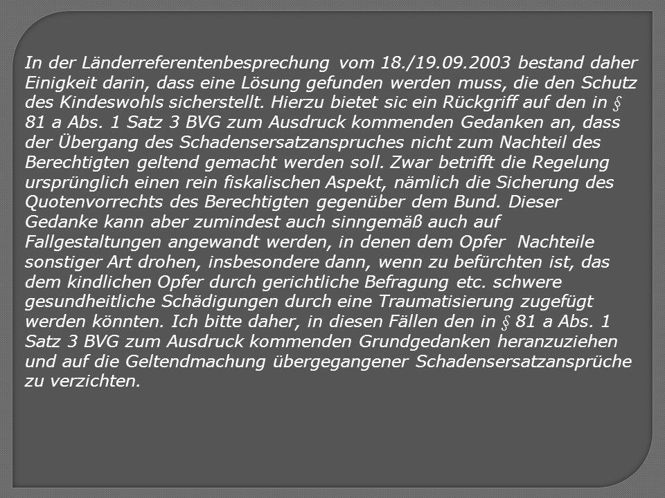 In der Länderreferentenbesprechung vom 18. /19. 09