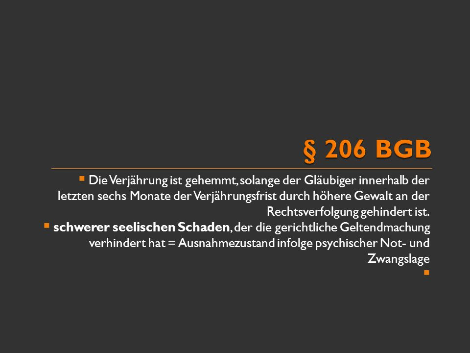 § 206 BGB