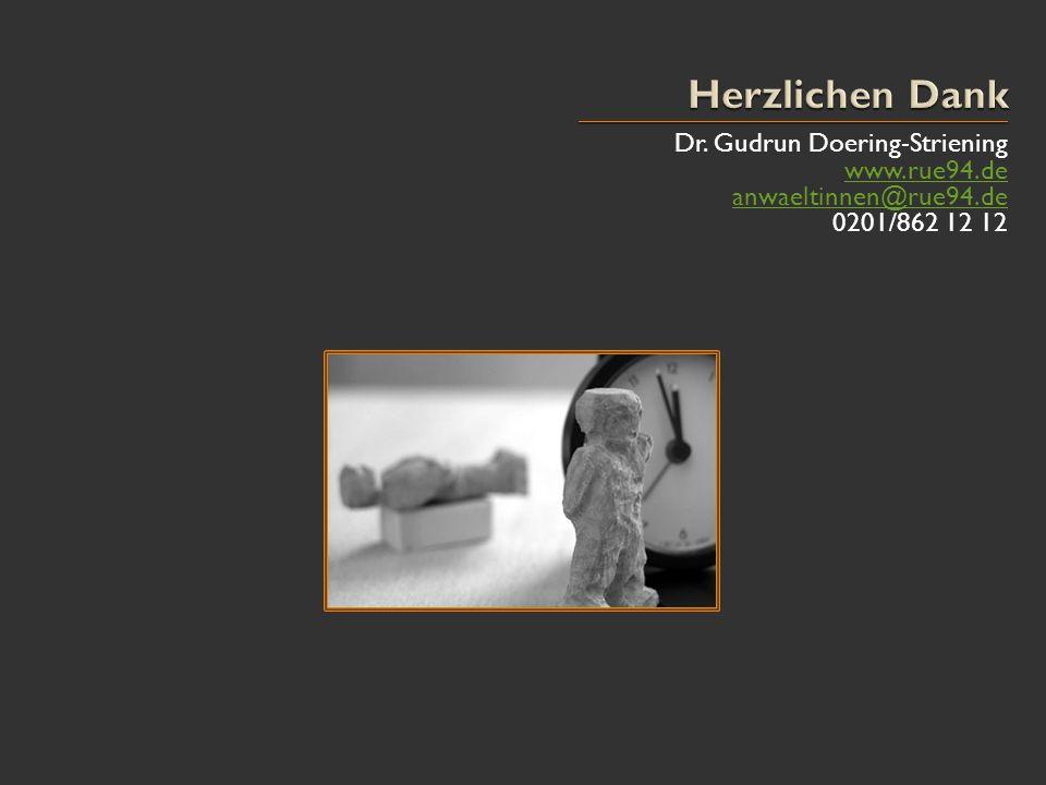 Herzlichen Dank Dr. Gudrun Doering-Striening www.rue94.de
