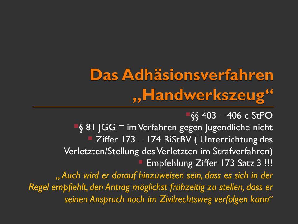 """Das Adhäsionsverfahren """"Handwerkszeug"""