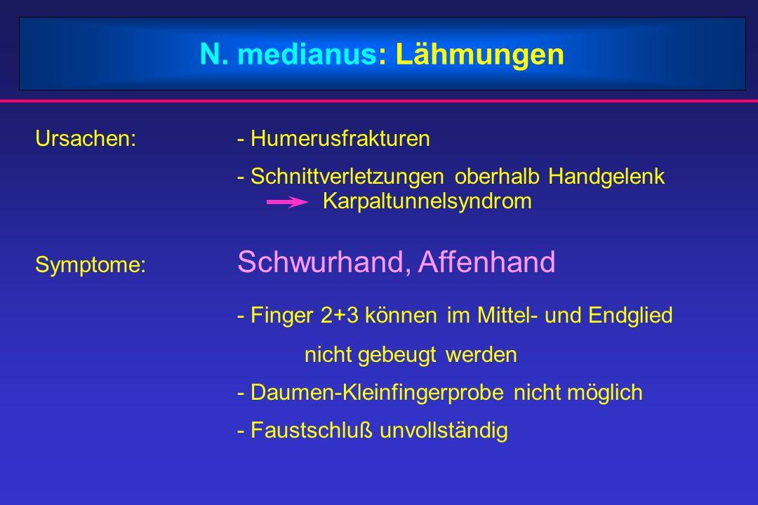 - Finger 2+3 können im Mittel- und Endglied