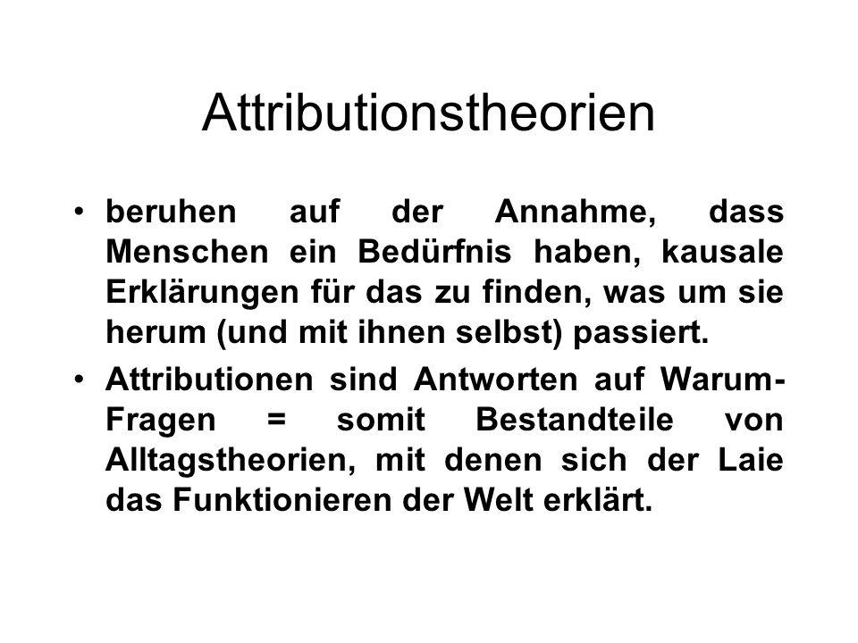 Attributionstheorien