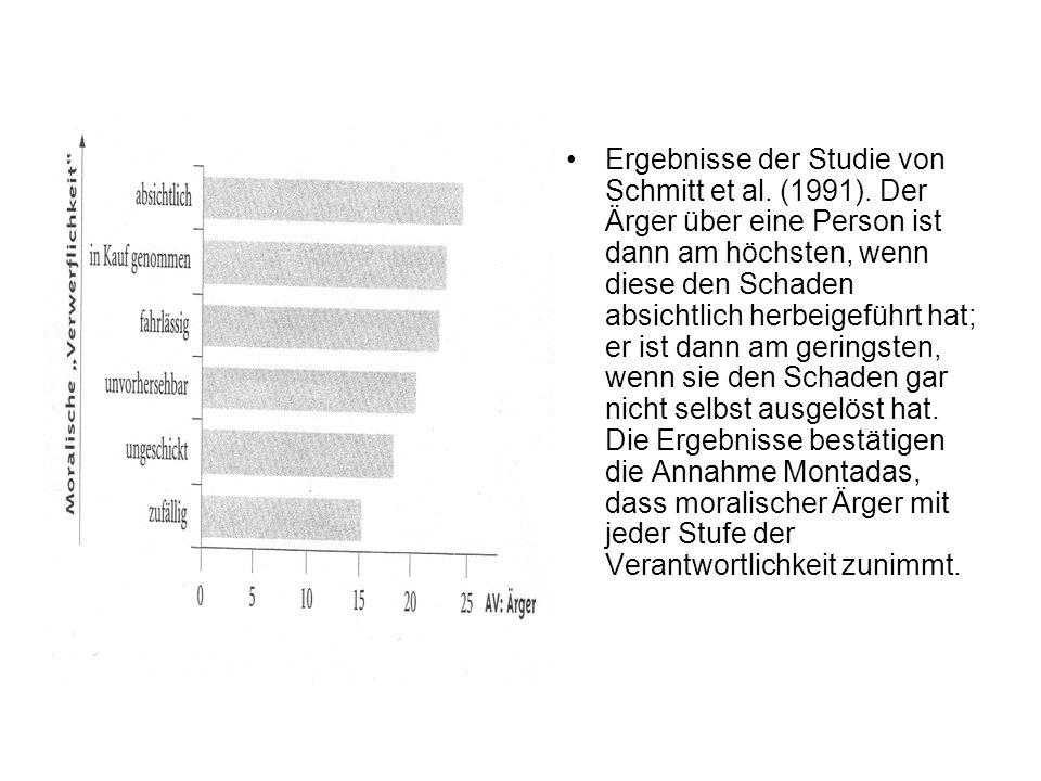 Ergebnisse der Studie von Schmitt et al. (1991)