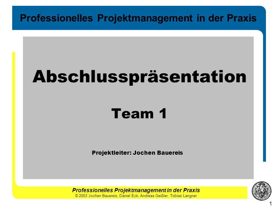 Abschlusspräsentation Team 1