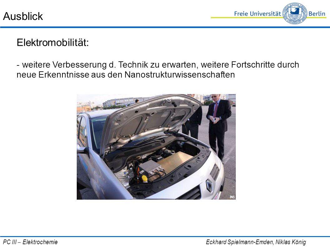 Ausblick Elektromobilität: