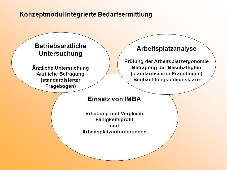 Konzeptmodul Integrierte Bedarfsermittlung
