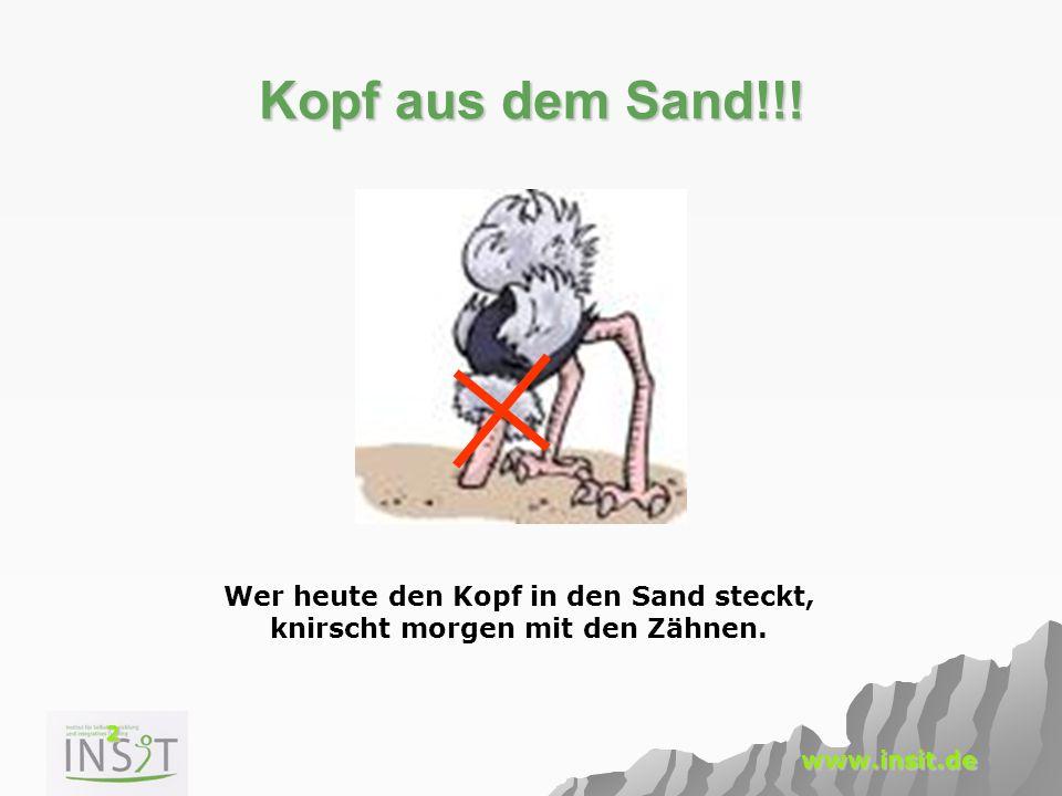 Wer heute den Kopf in den Sand steckt, knirscht morgen mit den Zähnen.