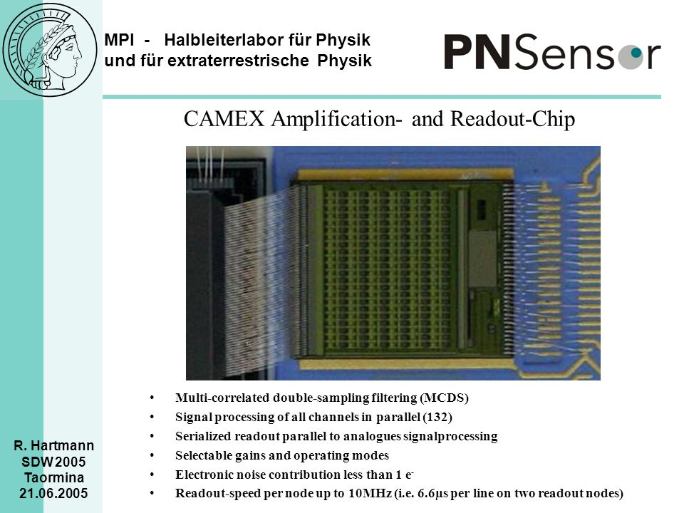 CAMEX Amplification- and Readout-Chip