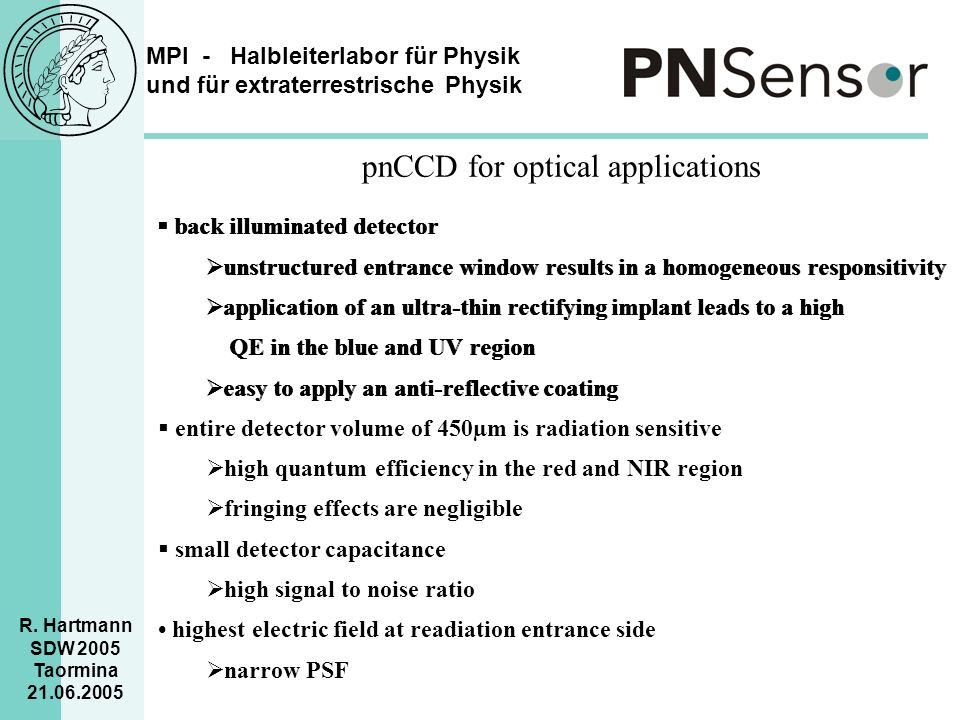 pnCCD for optical applications
