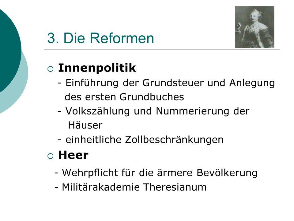 3. Die Reformen Innenpolitik Heer