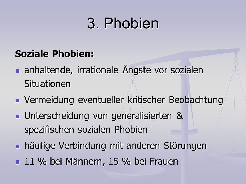 3. Phobien Soziale Phobien: