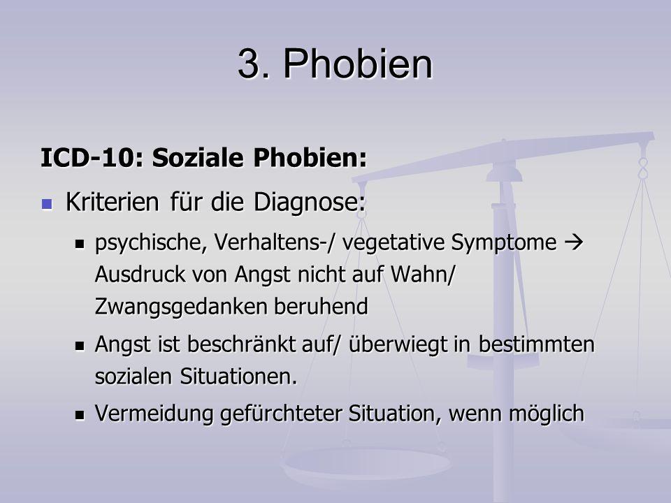 3. Phobien ICD-10: Soziale Phobien: Kriterien für die Diagnose: