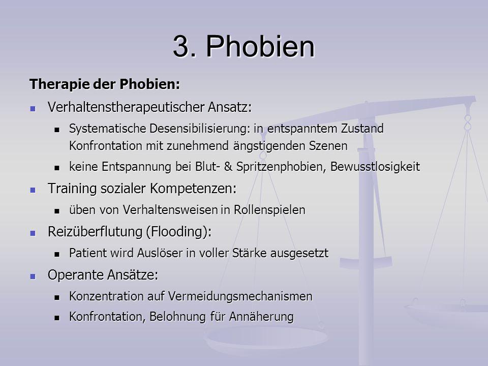 3. Phobien Therapie der Phobien: Verhaltenstherapeutischer Ansatz: