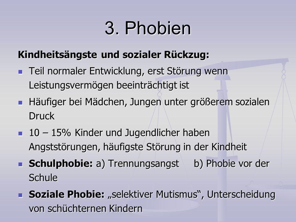 3. Phobien Kindheitsängste und sozialer Rückzug: