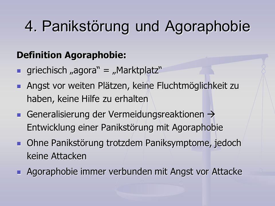 4. Panikstörung und Agoraphobie