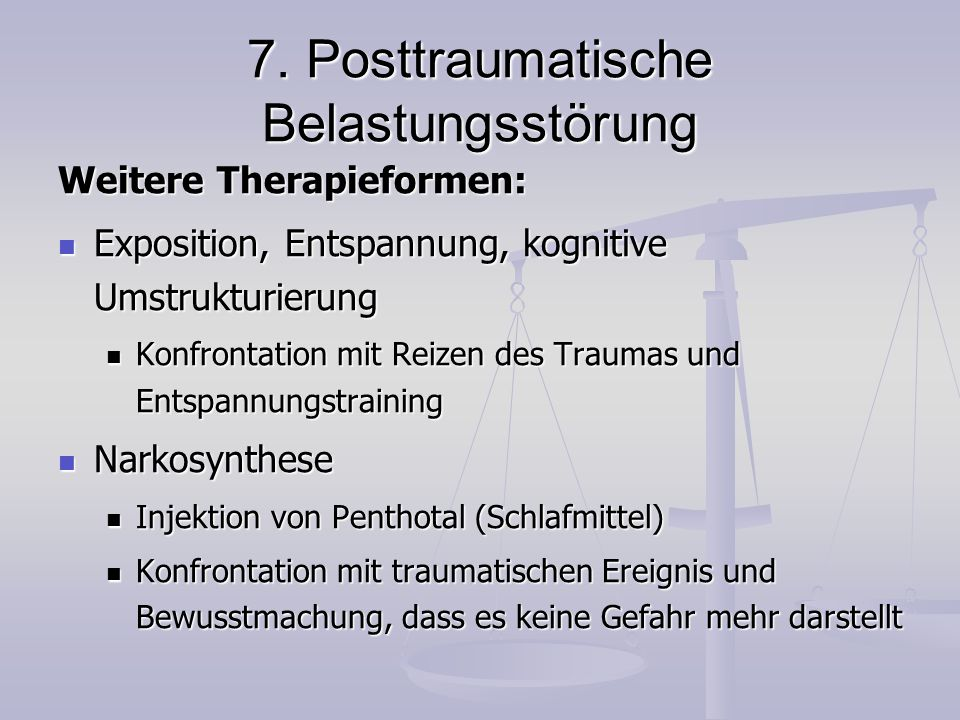 7. Posttraumatische Belastungsstörung