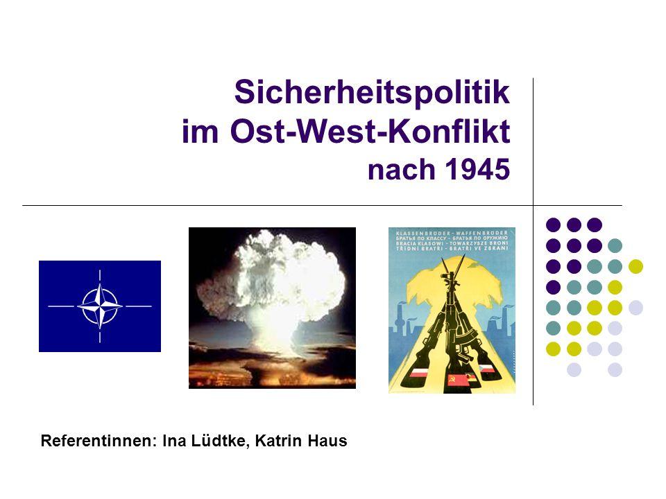 Sicherheitspolitik im Ost-West-Konflikt nach 1945