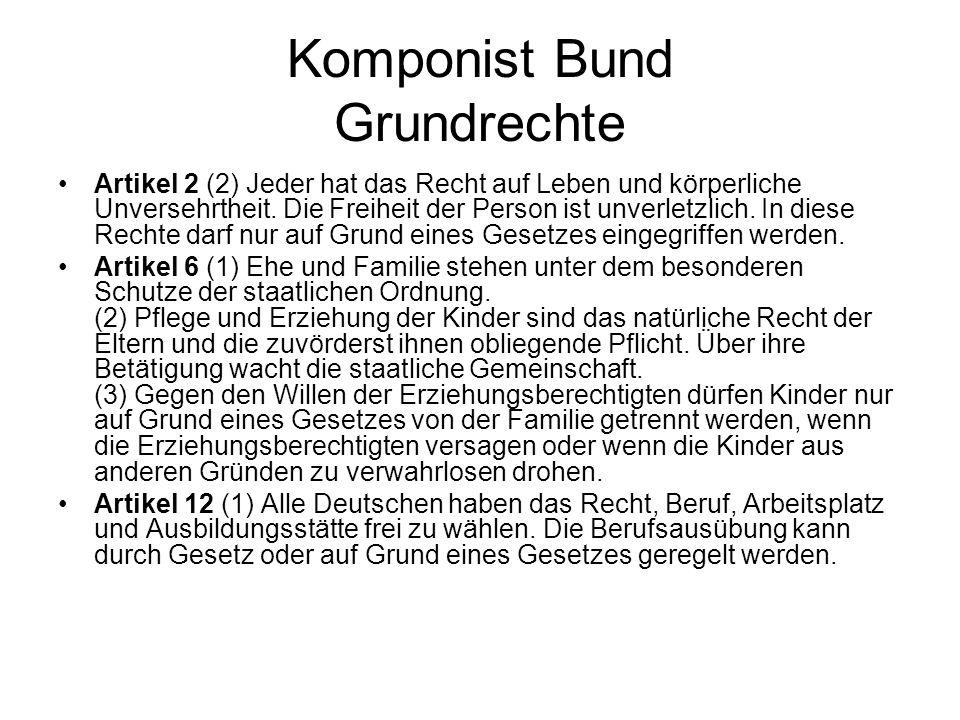 Komponist Bund Grundrechte