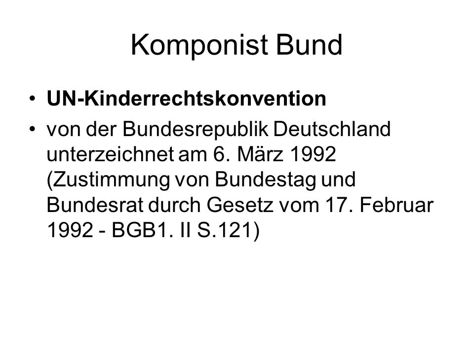 Komponist Bund UN-Kinderrechtskonvention