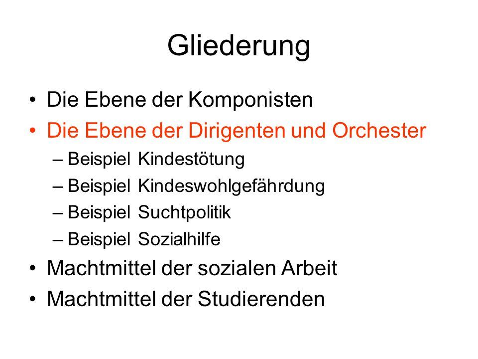 Gliederung Die Ebene der Komponisten