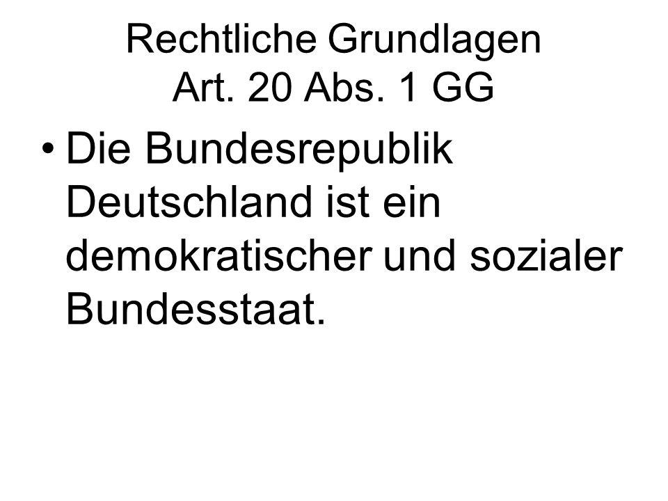 Rechtliche Grundlagen Art. 20 Abs. 1 GG