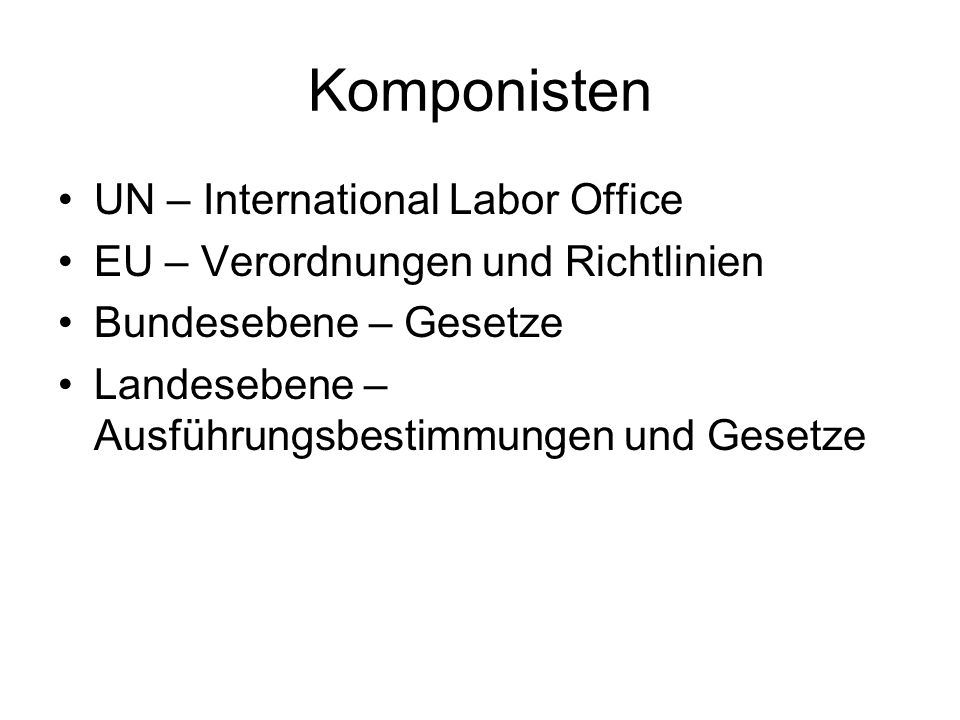 Komponisten UN – International Labor Office