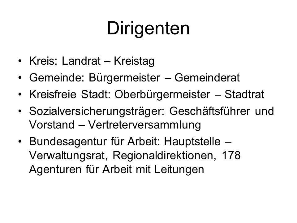 Dirigenten Kreis: Landrat – Kreistag
