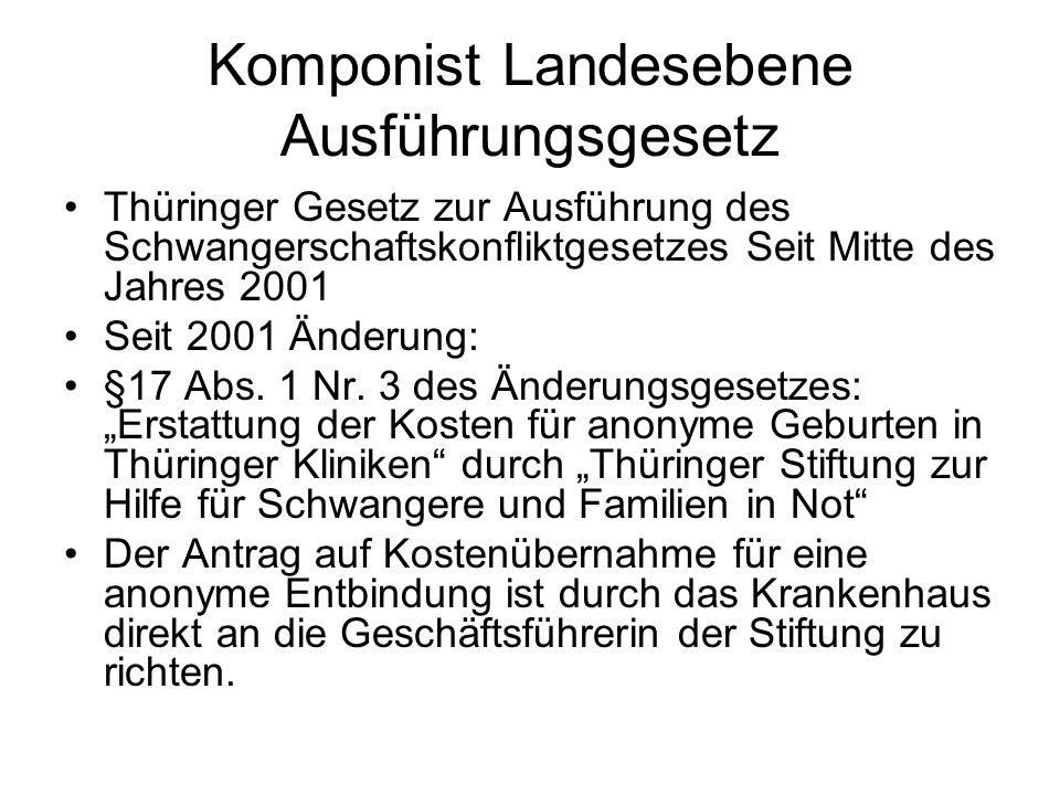 Komponist Landesebene Ausführungsgesetz