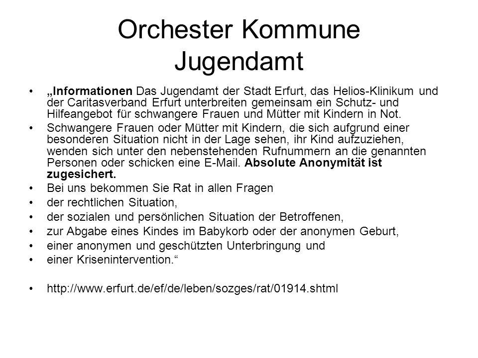 Orchester Kommune Jugendamt