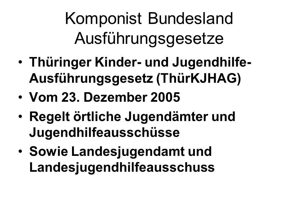 Komponist Bundesland Ausführungsgesetze
