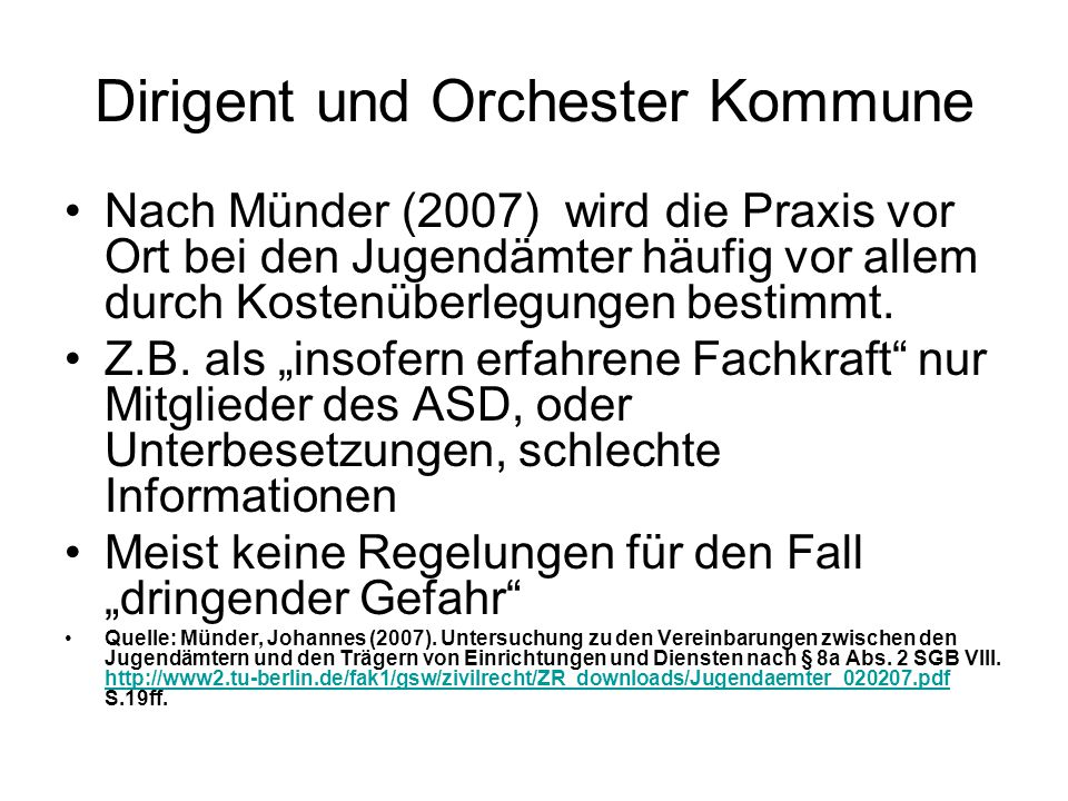 Dirigent und Orchester Kommune