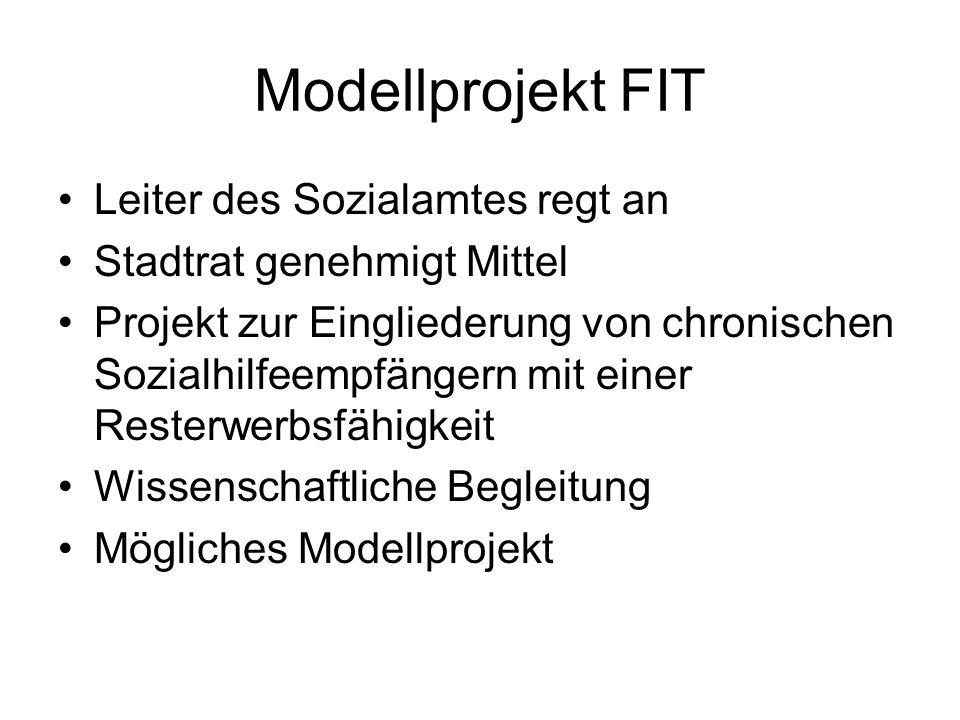 Modellprojekt FIT Leiter des Sozialamtes regt an