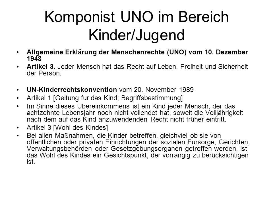 Komponist UNO im Bereich Kinder/Jugend
