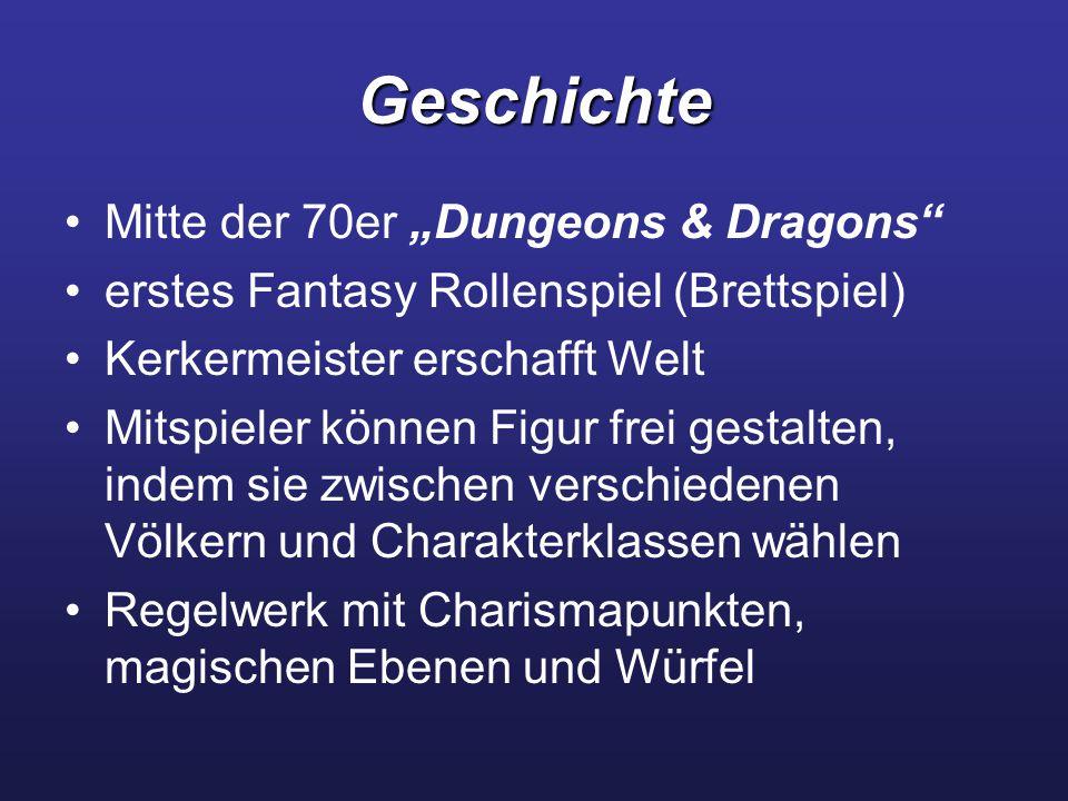 """Geschichte Mitte der 70er """"Dungeons & Dragons"""
