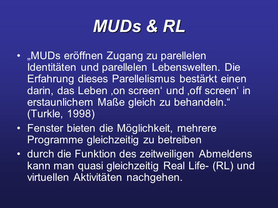 MUDs & RL