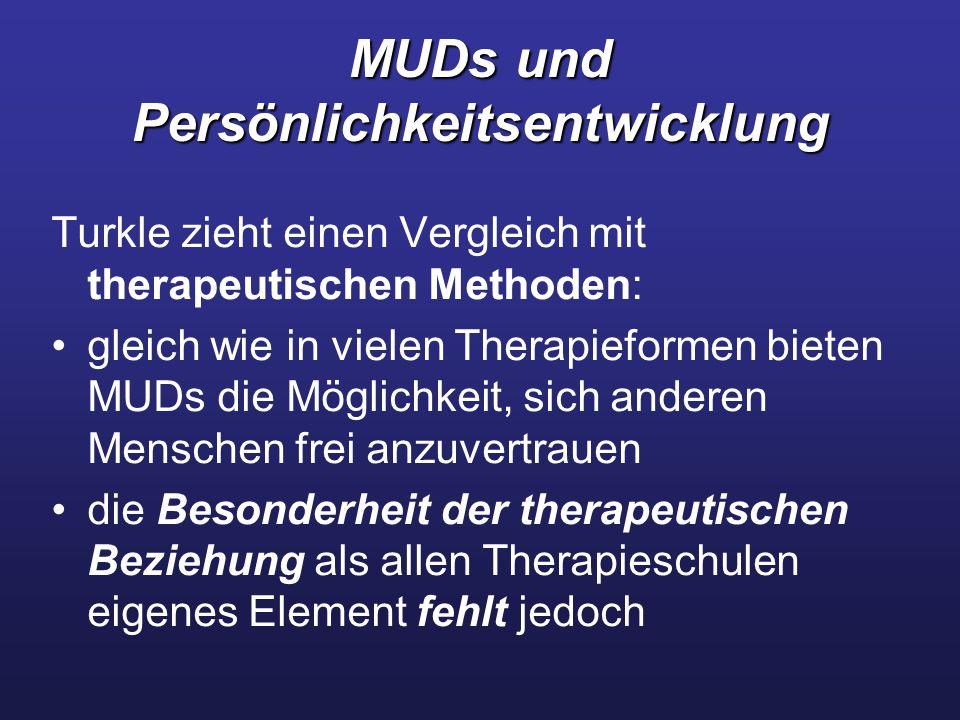 MUDs und Persönlichkeitsentwicklung