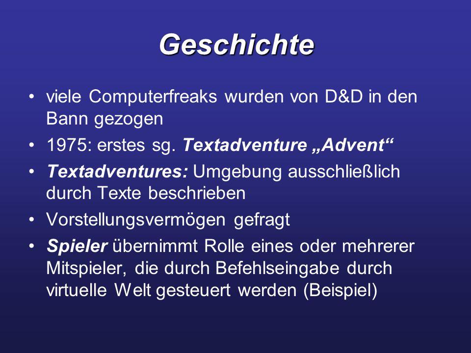 Geschichte viele Computerfreaks wurden von D&D in den Bann gezogen