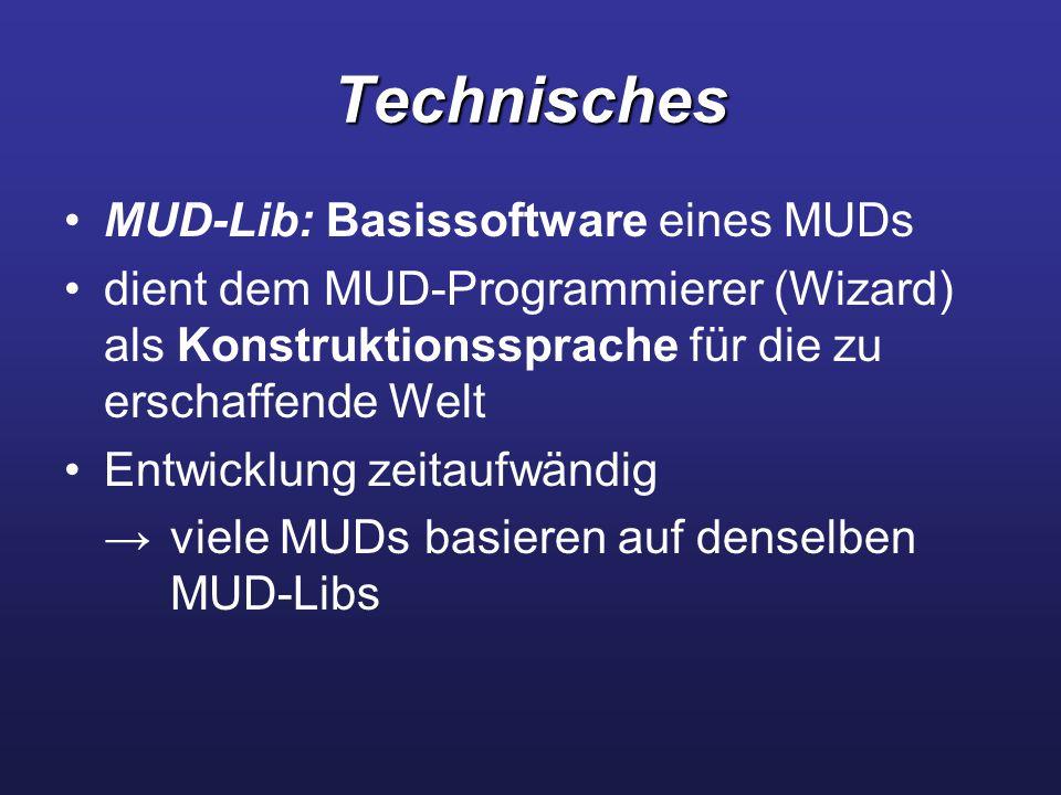 Technisches MUD-Lib: Basissoftware eines MUDs