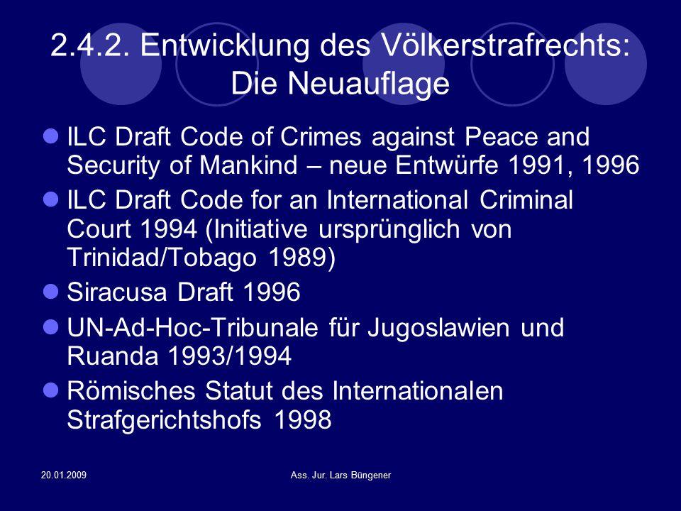 2.4.2. Entwicklung des Völkerstrafrechts: Die Neuauflage
