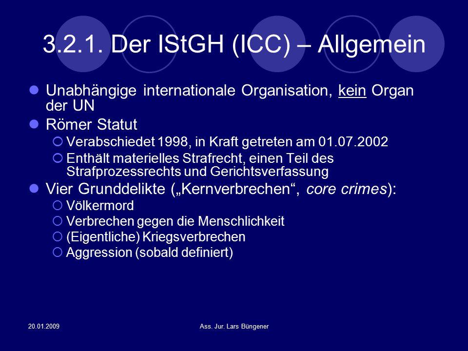 3.2.1. Der IStGH (ICC) – Allgemein