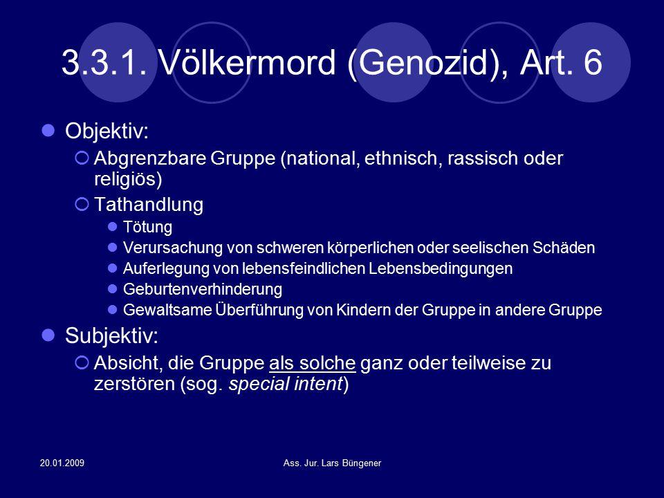 3.3.1. Völkermord (Genozid), Art. 6