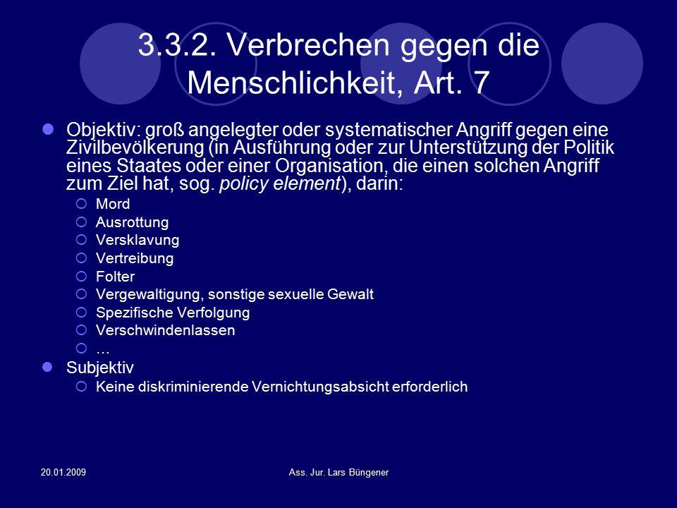 3.3.2. Verbrechen gegen die Menschlichkeit, Art. 7