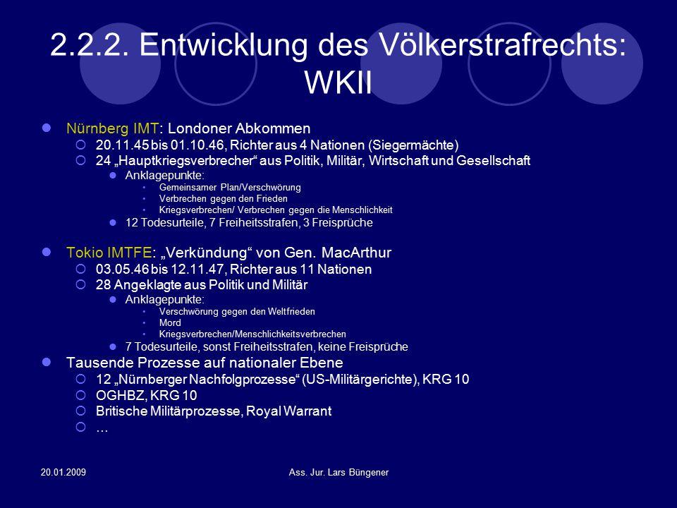 2.2.2. Entwicklung des Völkerstrafrechts: WKII
