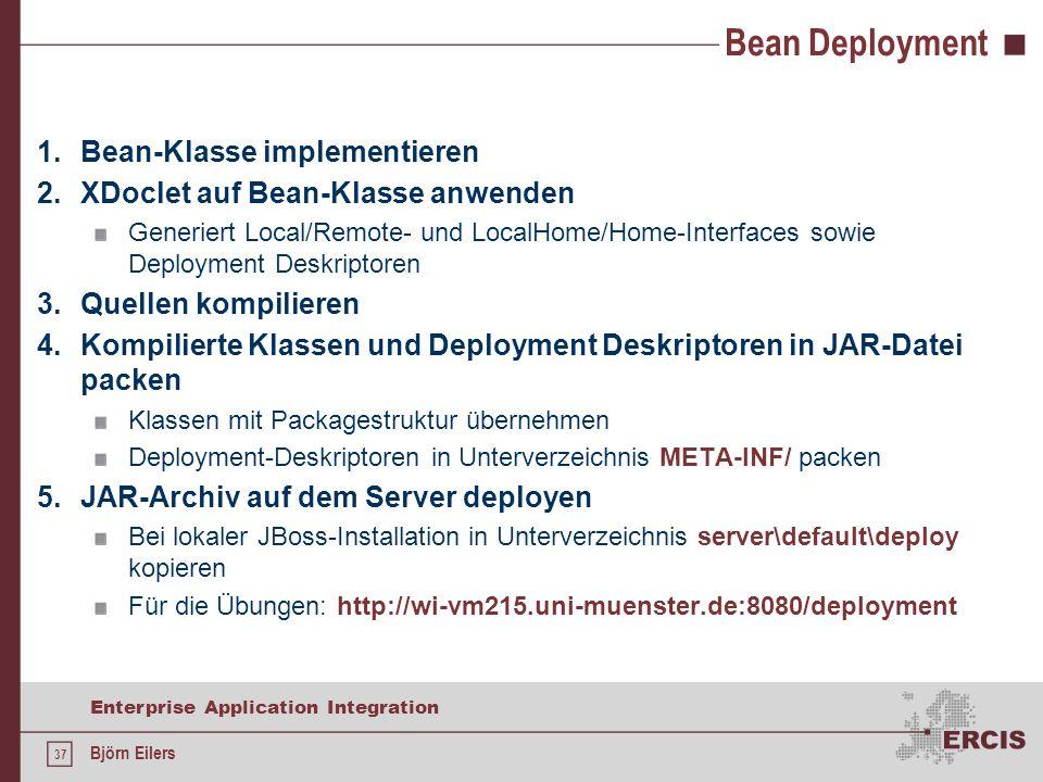 Bean Deployment Bean-Klasse implementieren