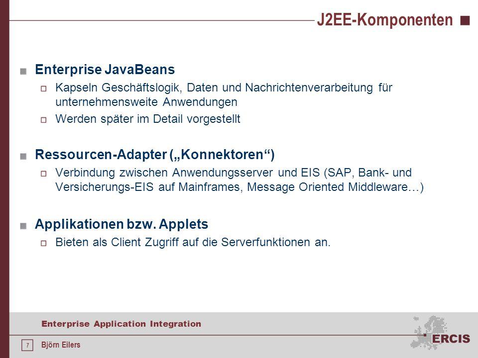 J2EE-Komponenten Enterprise JavaBeans
