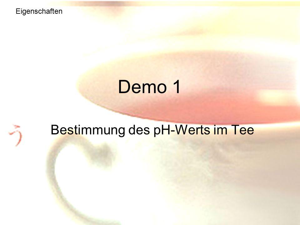 Bestimmung des pH-Werts im Tee