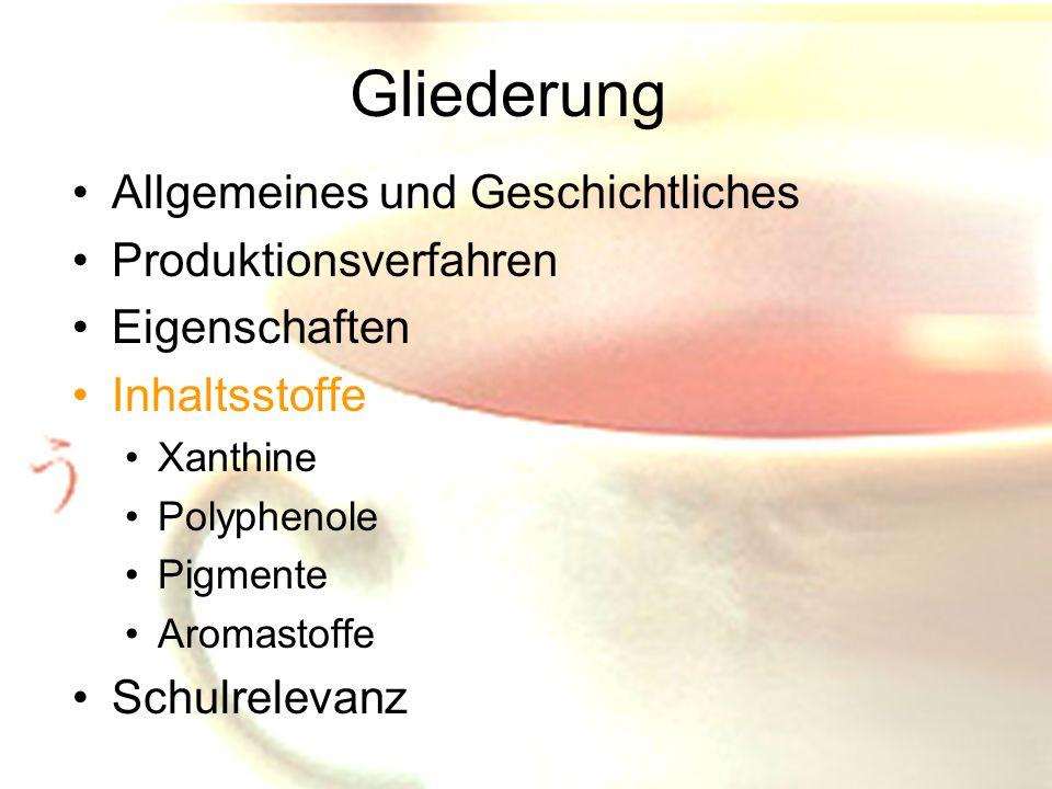 Gliederung Allgemeines und Geschichtliches Produktionsverfahren