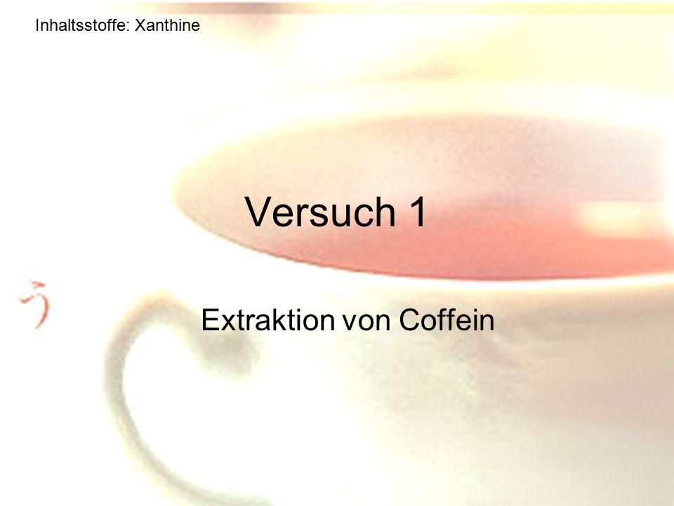 Extraktion von Coffein