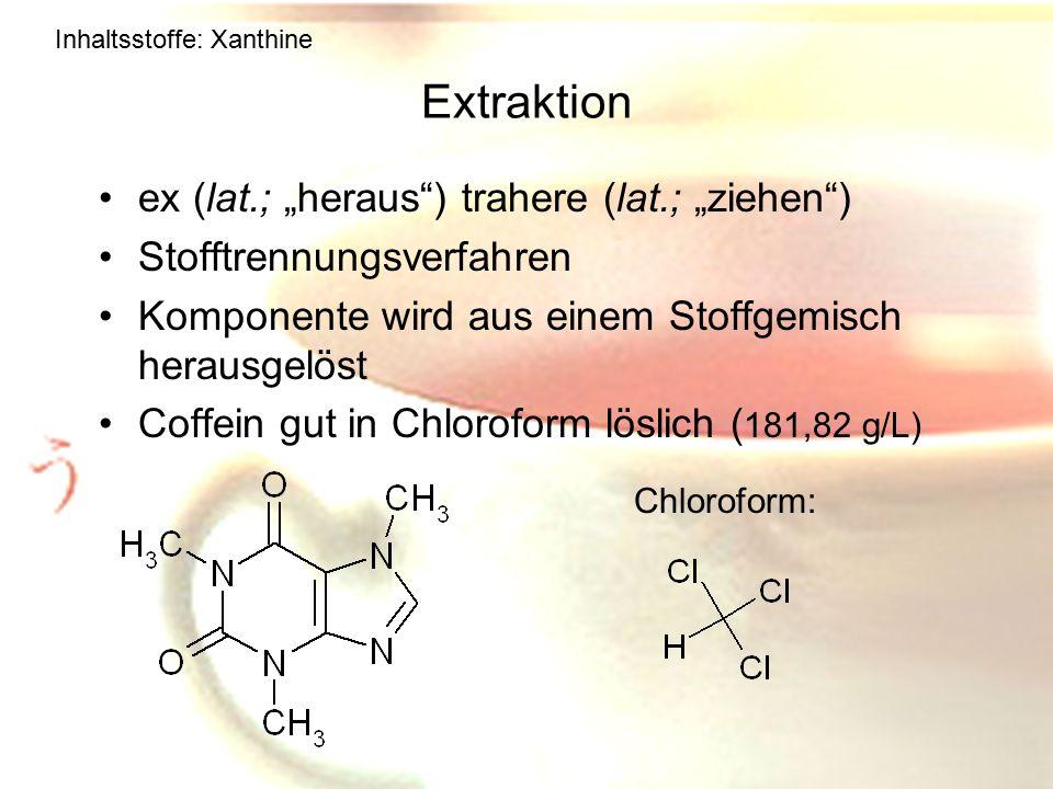 "Extraktion ex (lat.; ""heraus ) trahere (lat.; ""ziehen )"